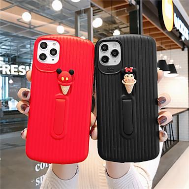Недорогие Кейсы для iPhone X-мягкий силиконовый чехол для iphone x мода прохладный чехол кожа подростки мальчики девочки стерео конусы для iphone 6 / iphone 7 / iphone 11 pro / противоударный / пылезащитный с подставкой