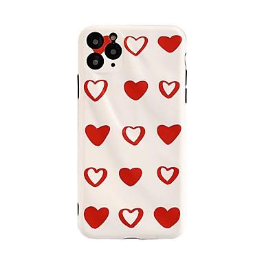 Недорогие Кейсы для iPhone 7 Plus-Кейс для Назначение Apple iPhone 11 / iPhone 11 Pro / iPhone 11 Pro Max Защита от удара / Защита от пыли / С узором Кейс на заднюю панель Полосы / волосы / С сердцем ТПУ