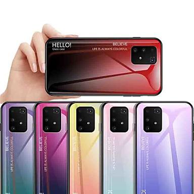 Недорогие Чехлы и кейсы для Galaxy J-Кейс для Назначение SSamsung Galaxy S9 / S9 Plus / S8 Plus Защита от удара / Защита от пыли / Ультратонкий Кейс на заднюю панель Градиент цвета Закаленное стекло