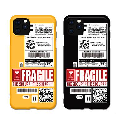Недорогие Кейсы для iPhone X-Мода iphone 11 чехол милый яркий мультфильм IMD матовый чехол Slim Fit черный бампер мягкий защитный чехол ТПУ для Apple, Iphone 7 / Iphone 8