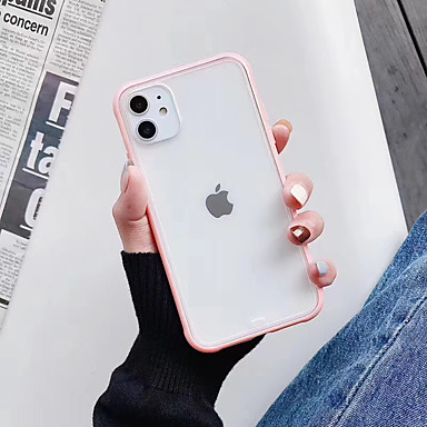 Недорогие Кейсы для iPhone 6 Plus-Кейс для Назначение Apple iPhone 11 / iPhone 11 Pro / iPhone 11 Pro Max Защита от удара / Ультратонкий / Матовое Кейс на заднюю панель Прозрачный / Однотонный ТПУ / ПК