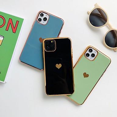 Недорогие Кейсы для iPhone X-чехол с (hd) протектором из закаленного стекла для Apple iphone 11/11 pro / 11 pro max пылезащитный / металлизация / внутренняя крышка задней крышки imd для iphone 7 / 7p / 6 / 6p / xs / xr / xs max