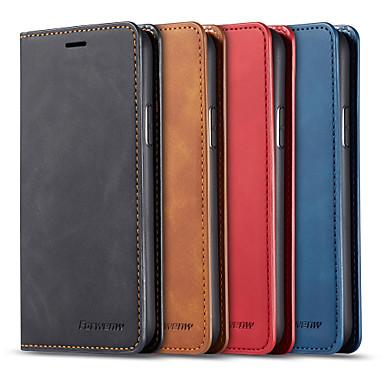 Недорогие Кейсы для iPhone 7-кожаный чехол для яблока iphone 11 / iphone 11 pro / iphone 11 pro max кожаный чехол для карты / противоударный чехол для всего тела однотонная кожа pu для iphone