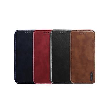 Недорогие Кейсы для iPhone X-Кейс для Назначение Apple iPhone XS / iPhone XR / iPhone XS Max Бумажник для карт / Защита от удара / Флип Чехол Однотонный Кожа PU