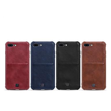 Недорогие Кейсы для iPhone 7 Plus-Кейс для Назначение Apple iPhone XS / iPhone XR / iPhone XS Max Бумажник для карт / Защита от удара Кейс на заднюю панель Однотонный Кожа PU