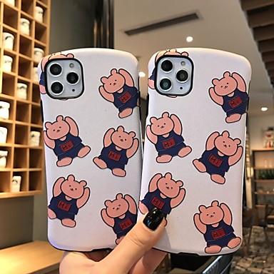 Недорогие Кейсы для iPhone X-чехол для iphone x милый шелковый медведь защитная мода классная обложка кожа подростки мальчики девочки чехлы для iphone 6 / iphone 7 / iphone 11 pro