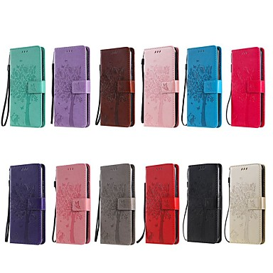 Недорогие Чехлы и кейсы для Xiaomi-Кейс для Назначение Xiaomi Xiaomi Mi 9T / Redmi K20 Pro / Redmi K20 Кошелек / Бумажник для карт / со стендом Чехол Однотонный / дерево Кожа PU