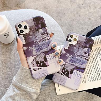 Недорогие Кейсы для iPhone 7 Plus-Кейс для Назначение Apple iPhone 11 / iPhone 11 Pro / iPhone 11 Pro Max Защита от удара / Ультратонкий / С узором Кейс на заднюю панель Плитка / Слова / выражения / Пейзаж ПК