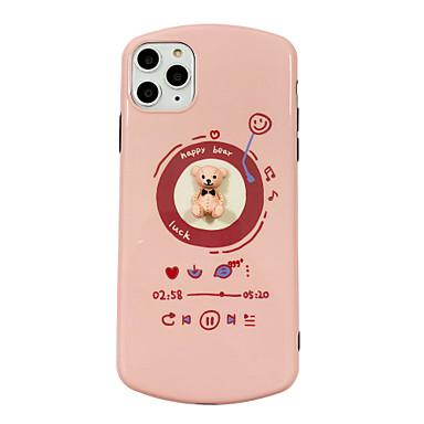 Недорогие Кейсы для iPhone 7-Кейс для Назначение Apple iPhone 11 / iPhone 11 Pro / iPhone 11 Pro Max Защита от удара / Ультратонкий / С узором Кейс на заднюю панель Однотонный / Животное / 3D в мультяшном стиле ПК