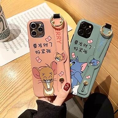 Недорогие Кейсы для iPhone 7 Plus-Кейс для Назначение Apple iPhone 11 / iPhone 11 Pro / iPhone 11 Pro Max Защита от удара / Ультратонкий / С узором Кейс на заднюю панель Кот / Животное / Мультипликация ПК