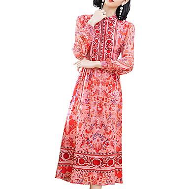 povoljno Ženske haljine-Žene Red Haljina A kroj Geometrijski oblici M L