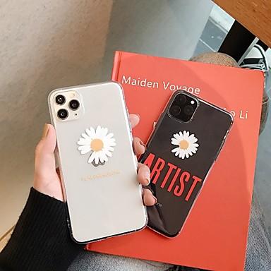 Недорогие Кейсы для iPhone 7-чехол с (hd) протектором из закаленного стекла для Apple iphone 11/11 pro / 11 pro max прозрачная задняя крышка слово / фраза / цветок ТПУ для iphone 7 / 7p / 6 / 6p / xs / xr / xs max