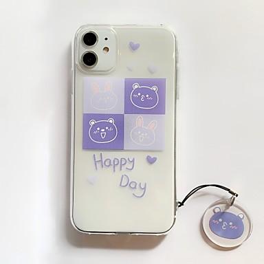 Недорогие Кейсы для iPhone 6-iphone xr чехол прозрачный защитный чехол с мягким бампером ТПУ тонкий тонкий чехол для iphone 7 / iphone 8 / iphone x милый случай медведя кролика