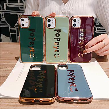 Недорогие Кейсы для iPhone 7 Plus-Кейс для Назначение Apple iPhone 11 / iPhone 11 Pro / iPhone 11 Pro Max Защита от удара / Покрытие / Ультратонкий Кейс на заднюю панель Слова / выражения / Однотонный ТПУ