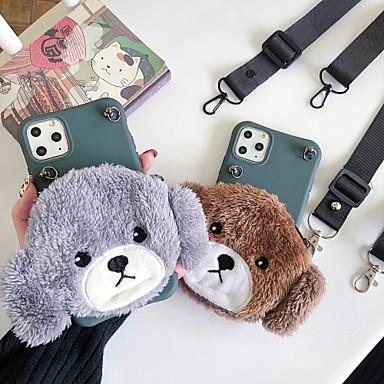 Недорогие Кейсы для iPhone 7-Кейс для Назначение Apple iPhone 11 / iPhone 11 Pro / iPhone 11 Pro Max Кошелек / Защита от удара Кейс на заднюю панель С собакой / Однотонный / Животное ТПУ