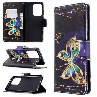 Недорогие Чехлы и кейсы для Galaxy S-чехол для samsung galaxy s20 ultra / s20 plus / s10 plus кошелек / визитница / с подставкой для чехлов для тела в виде бабочки кожаный чехол для samsung s9 / s9 plus / s8 plus / s10e / s7 edge