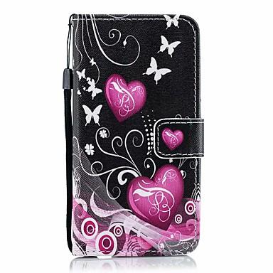 Недорогие Кейсы для iPhone 6 Plus-чехол для яблока iphone 11 / iphone 11 про макс дворцовый цветок искусственная кожа со слотом для карт вверх и вниз для iphone5 / 6/7/8 / 6p / 7p / 8p / x / xs / xr / xs mas