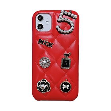 Недорогие Кейсы для iPhone 7-Модный чехол для iphone 11 iphone 8 plus с алмазным дизайном кожи тпу из искусственной кожи угловой задний чехол гибкий чехол для apple iphone 11 6.1 дюймов / iphone 7 / iphone 8
