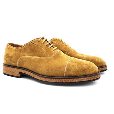 hesapli Ayakkabılar ve Çantalar-Erkek Ayakkabı Deri Sonbahar Kış Oxford Modeli Günlük için Kahverengi