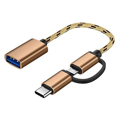 povoljno Kablovi i adapteri-2 u 1 tip-c muški mikro usb muški do usb 3.0 ženski sučelje kabel otg adapter brzi prijenosni kabel