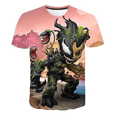 povoljno Muške majice-Majica s rukavima Muškarci - Osnovni Dnevno / Izlasci Color block / 3D / Crtani film Print Duga