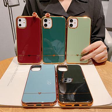 Недорогие Кейсы для iPhone 7 Plus-Кейс для Назначение Apple iPhone 11 / iPhone 11 Pro / iPhone 11 Pro Max Защита от удара / Покрытие / С узором Кейс на заднюю панель С сердцем / Однотонный ПК