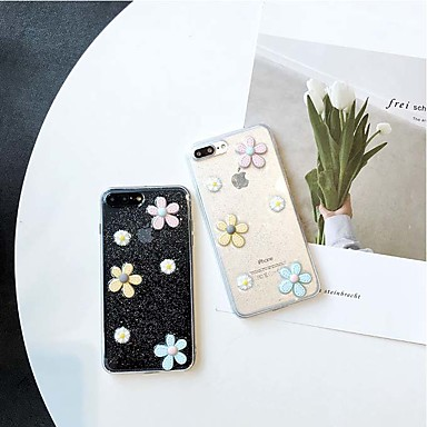 Недорогие Кейсы для iPhone 7 Plus-Кейс для Назначение Apple iPhone 11 / iPhone 11 Pro / iPhone 11 Pro Max Защита от удара Кейс на заднюю панель Цветы ТПУ