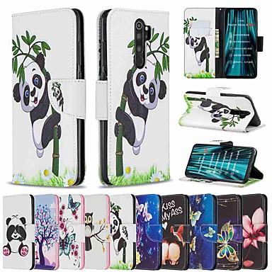 Недорогие Чехлы и кейсы для Xiaomi-чехол для xiaomi redmi note 8 pro / redmi note 8 / redmi note 7 pro кошелек / визитница / с подставкой для всего тела чехлы panda из кожи / тпу для redmi note 7 / redmi 8 / redmi 8a / redmi k20