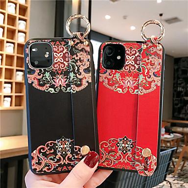 Недорогие Кейсы для iPhone 6 Plus-Кейс для Назначение Apple iPhone 11 / iPhone 11 Pro / iPhone 11 Pro Max Защита от удара / С узором Кейс на заднюю панель Однотонный / Цветы ПК