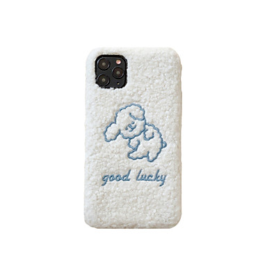 Недорогие Кейсы для iPhone 7 Plus-плюшевый чехол для телефона вышивки для Apple iphone 11 ультратонкий задняя крышка мультфильм защитное тпу, пригодный для iphone 7 / iphone 8 мода стиль ins удачи кожи телефона