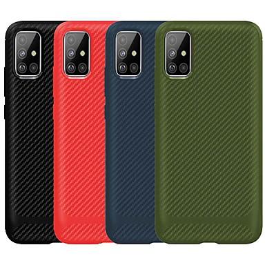 Недорогие Чехлы и кейсы для Galaxy S-Кейс для Назначение SSamsung Galaxy Galaxy S10 / Galaxy S10 Plus / Galaxy S10 E Защита от удара Кейс на заднюю панель Однотонный ТПУ / Углеродное волокно