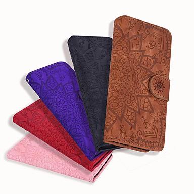 Недорогие Кейсы для iPhone 7-чехол для apple iphone se 2020 / iphone 11 pro / iphone 11 pro max кошелек / визитница / рельефные чехлы для тела сплошной цвет / искусственная кожа