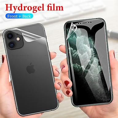 Недорогие Защитные плёнки для экрана iPhone-сверхтонкая передняя и задняя защитная пленка из гидрогеля для ТПУ iphone11 pro max защитная пленка для гидрогеля iphonex / xs xr xsmax iphone7 / 8 plus