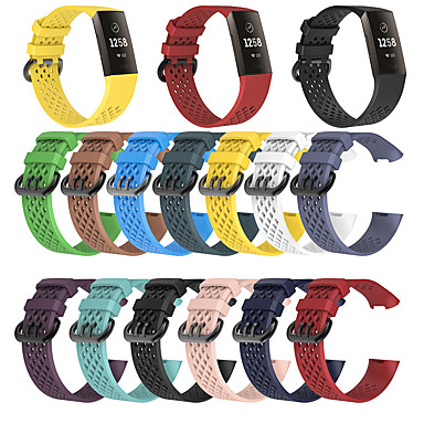 cheap Smartwatch Accessories-Watch Band for Fitbit Charge 3 Fitbit Modern Buckle Silicone Wrist Strap