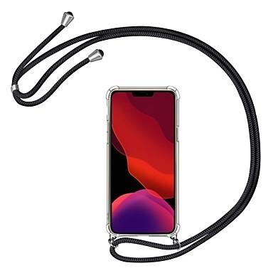 baratos Capinhas para Celulares-Cristal ultrafino cristal transparente à prova de choque cristal macio tpu capa smartphone colar para iphone 11 / iphone 11 pro / iphone 11 pro max / xs max / xr / xs / x / 8plus / 8 / 7plus / 7/6 /