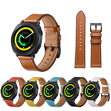 economico Nuovi Arrivi-watch band for samsung galaxy watch active samsung galaxy watch active 2 samsung galaxy leather loop cinturino da polso in vera pelle