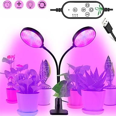 tanie Żarówki LED-1 sztuk 30 w usb ściemnianie led rosną światła led roślin lampy pełne spektrum fito lampy zegar dla kryty warzyw kwiat sadzonka
