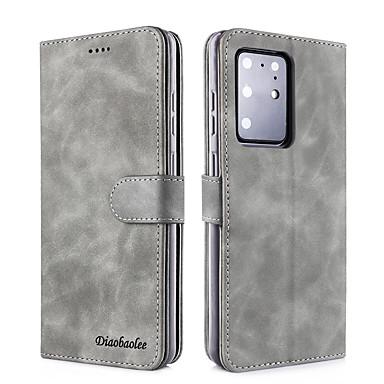 Недорогие Чехлы и кейсы для Galaxy Note-samsung s20plus свежий чистый цвет флип кожаный чехол для мобильного телефона case note10pro сменный тип кошелька против падения защитная оболочка s9 / s8plus