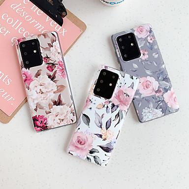 Недорогие Чехол Samsung-чехол для samsung карта сцены samsung galaxy s20 s20 plus s20 ultra a51 a71 ретро цветочный узор матовый материал тпу imd процесс все включено мобильный телефон casexqs