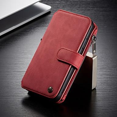 Недорогие Чехлы и кейсы для Galaxy S-Caseme многофункциональный магнитный роскошный деловой кожаный раскладной телефон чехол для Samsung Galaxy S10 / S9 / S8 / S10 Plus / S9 Plus / S8 Plus с подставкой слот для карт памяти съемная крышка