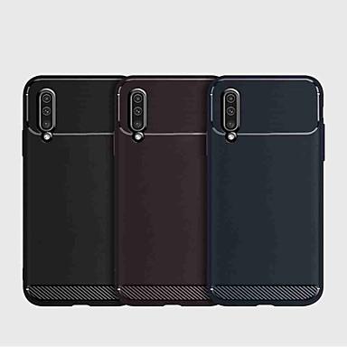 Недорогие Чехлы и кейсы для Galaxy А-Кейс для Назначение SSamsung Galaxy S9 / S9 Plus / A6 (2018) Защита от удара Кейс на заднюю панель Однотонный ТПУ / Углеродное волокно