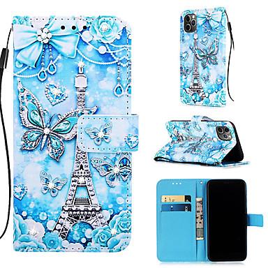 Недорогие Кейсы для iPhone 6 Plus-чехол для apple iphone 11 / iphone 11 pro / iphone 11 pro max кошелек / визитница / с подставкой для всего тела чехлы бабочка из искусственной кожи для iphone xs max xr xs x 8 плюс 7 плюс 6 плюс 8 7