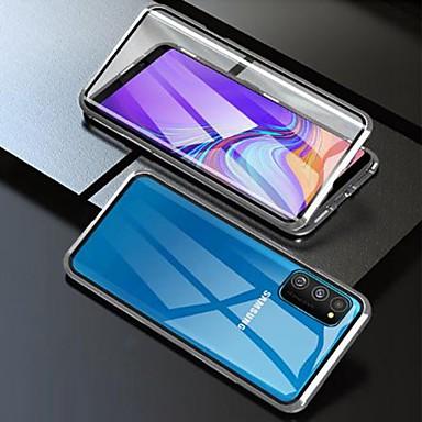 Недорогие Чехлы и кейсы для Galaxy Note-магнитный чехол для samsung galaxy a51 / m40s / a71 двухсторонний ударопрочный корпус / водостойкий / из прозрачного закаленного стекла / металлический корпус для galaxy a10s / a20s / note 10 plus / s