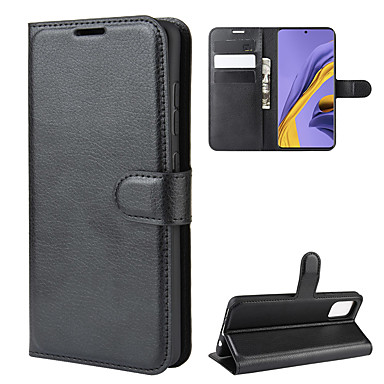 cheap Galaxy A7 Cases / Covers-Case For Samsung Galaxy A5(2018) / Galaxy A7(2018) / A3(2017) Wallet / Card Holder / Shockproof Full Body Cases Solid Colored PU Leather