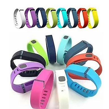 Недорогие Аксессуары для смарт-часов-Ремешок для часов для Fitbit Flex Fitbit Спортивный ремешок силиконовый Повязка на запястье