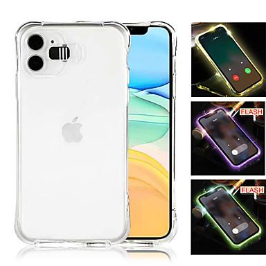 Недорогие Кейсы для iPhone-чехол для фонаря вызова для iphone 11 pro xr xs max 6 6s 7 8 противоударный прозрачный светодиодный флеш чехол для iphone 11 pro