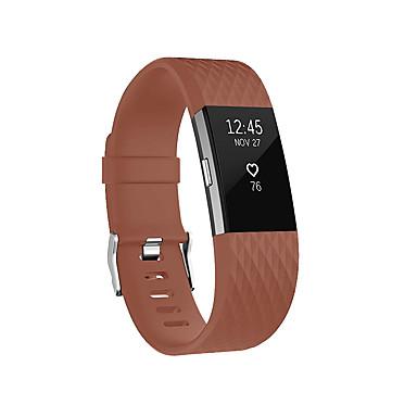 Недорогие Аксессуары для смарт-часов-Ремешок для часов для Fitbit Charge 2 Fitbit Классическая застежка силиконовый Повязка на запястье