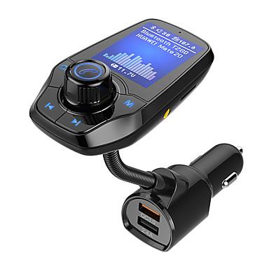 Недорогие Bluetooth гарнитуры для авто-Bluetooth FM-передатчик для автомобиля 1.8 цветной экран радио адаптер ж qc3.0&усилитель; 5v / 2.4a зарядка громкой связи поддержка карт microsd aux play eq mode