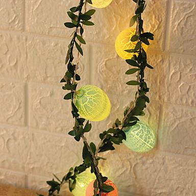 economico LED e illuminazione-2x2.5M Fili luminosi 20 LED 2pcs Bianco naturale Pasqua Adorabile / Uovo di Pasqua Batterie AA alimentate
