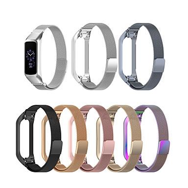 Недорогие Часы для Samsung-Ремешок для часов для Samsung Galaxy Fit E SM-R375 Samsung Galaxy Миланский ремешок Нержавеющая сталь Повязка на запястье